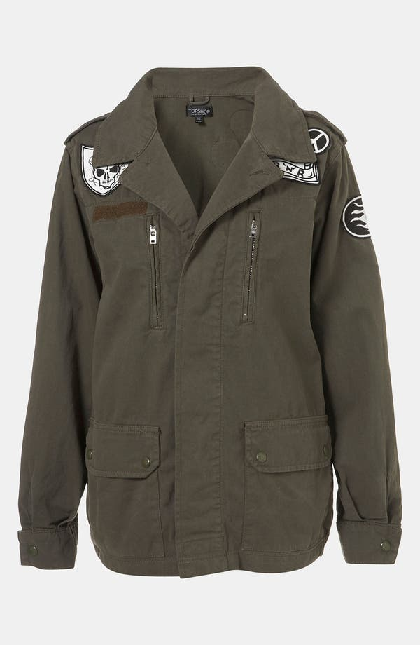 Alternate Image 4  - Topshop Patch Army Jacket