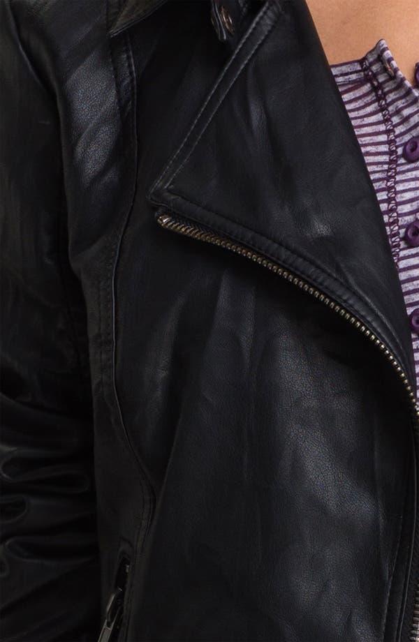 Alternate Image 3  - Lost Faux Leather Biker Jacket (Juniors)