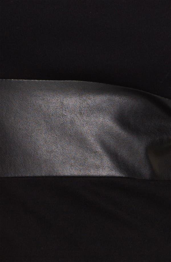 Alternate Image 3  - B44 Dressed by Bailey 44 'Little Black Dress' Faux Leather Stripe Tank Dress