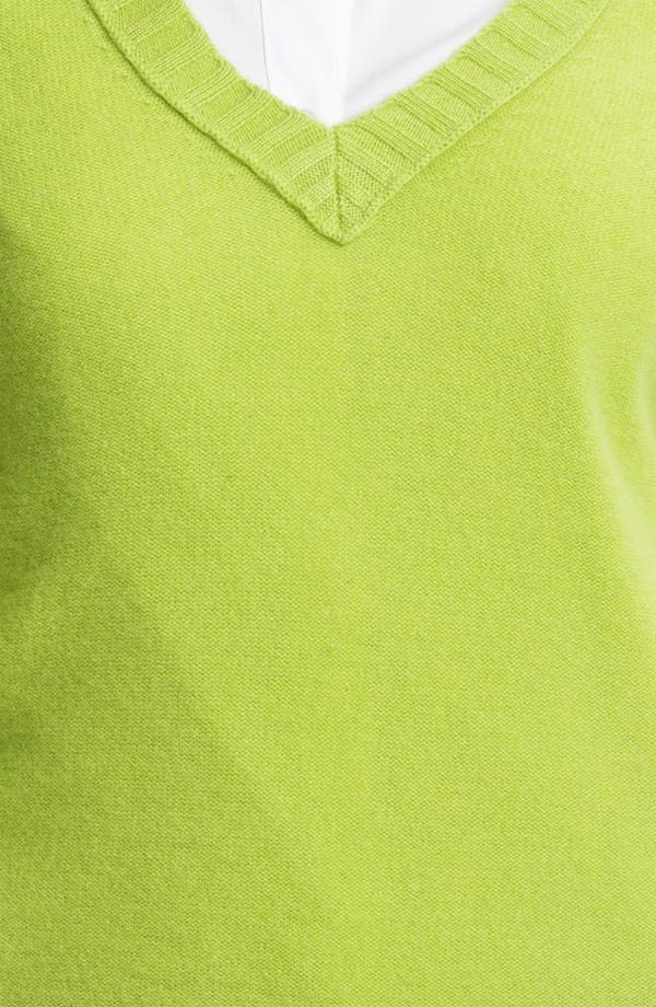 Alternate Image 3  - Halogen® V-Neck Cashmere Sweater (Online Exclusive)