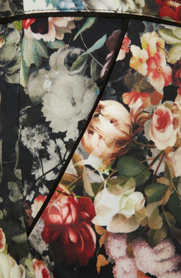 Alternate Image 3  - Topshop 'Winter Floral' Print Crop Cigarette Pants