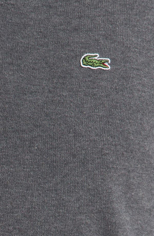 Alternate Image 3  - Lacoste 'Classic' V-Neck Sweater