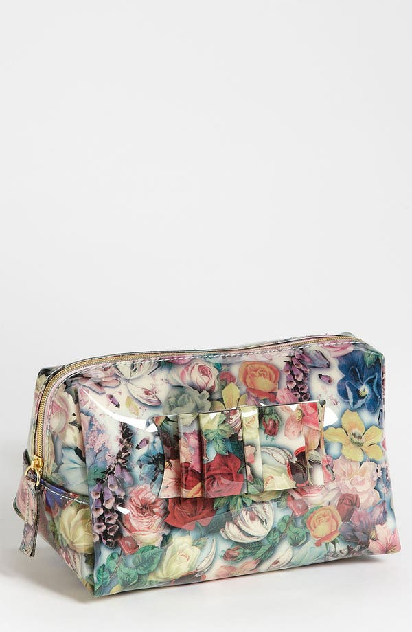 Main Image - Ted Baker London Small Rose Print Cosmetics Case