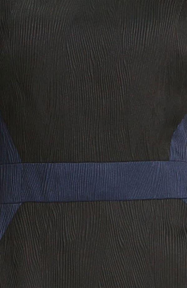 Alternate Image 3  - Adrianna Papell Colorblock Jacquard Sheath Dress (Petite)