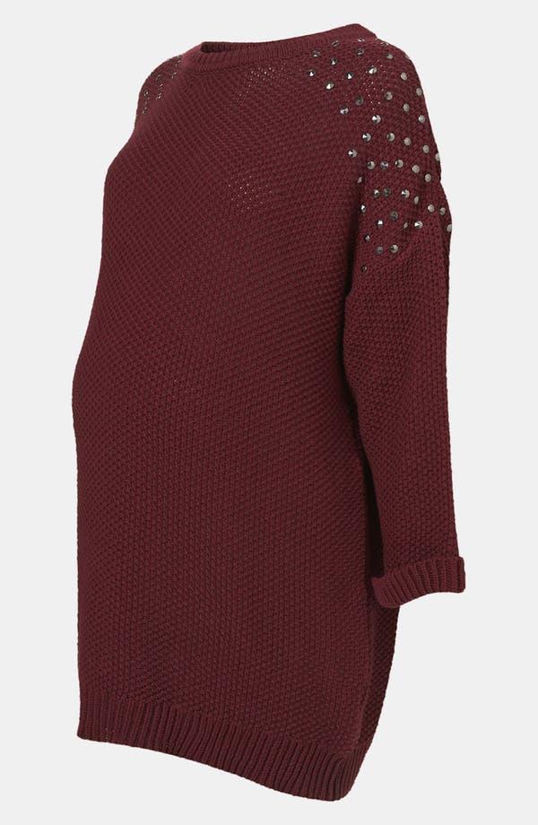 Alternate Image 2  - Topshop 'Grunge' Studded Maternity Sweater