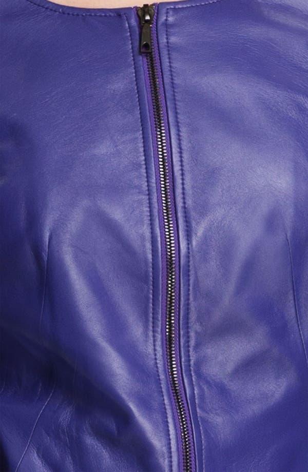 Alternate Image 3  - Lafayette 148 New York Leather Moto Jacket