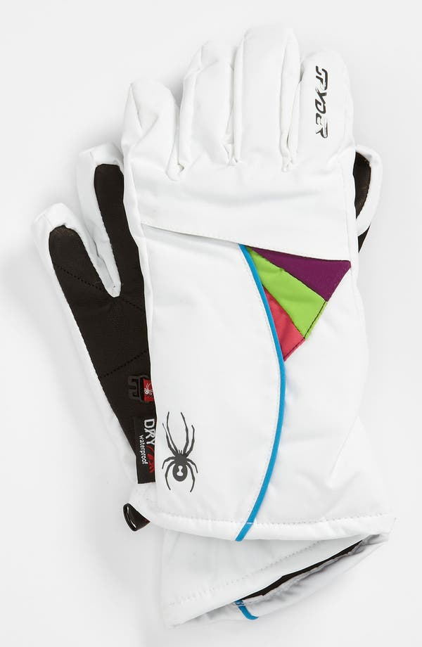 Alternate Image 1 Selected - Spyder 'Spark' Ski Gloves (Girls)