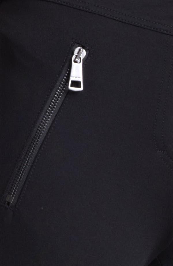 Alternate Image 3  - Burberry London Zip Detail Jersey Leggings