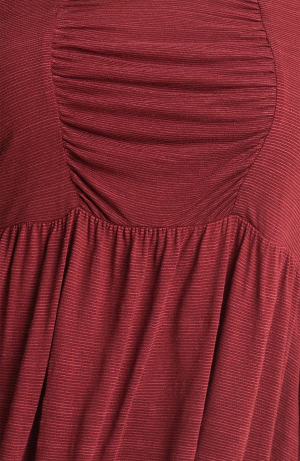 Alternate Image 3  - Lucky Brand 'Tribal' Ruched Peasant Top (Plus)