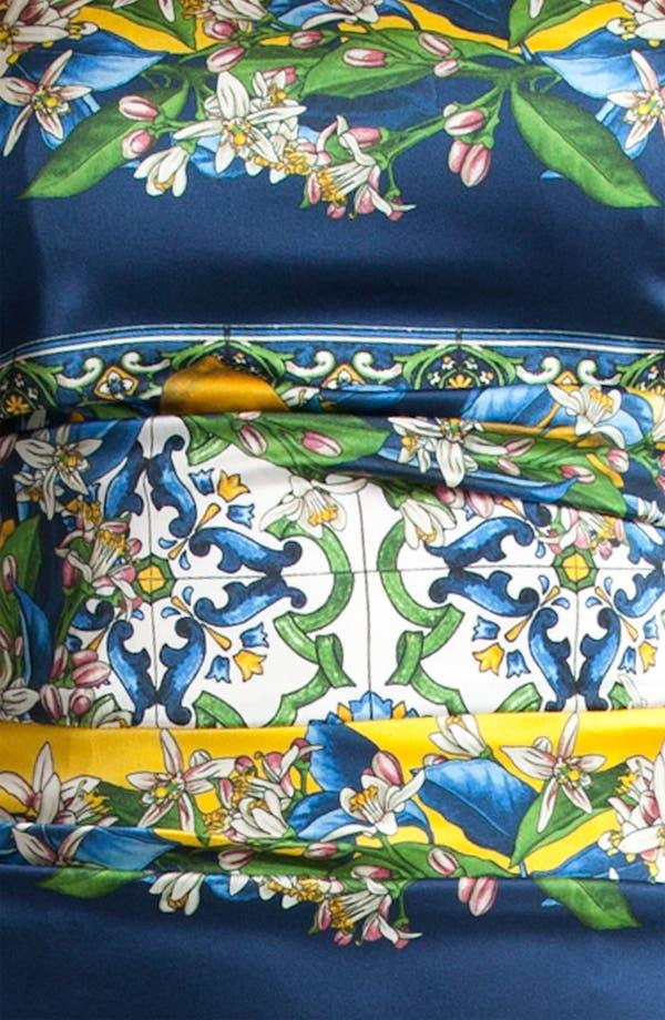 Alternate Image 3  - Dolce&Gabbana Tile Print Stretch Satin Dress