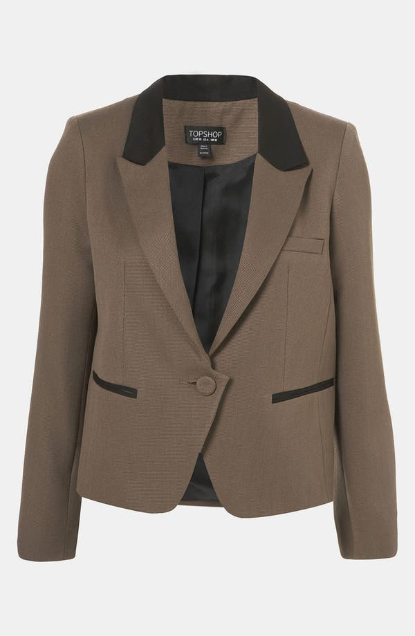 Alternate Image 1 Selected - Topshop Shrunken Equestrian Blazer