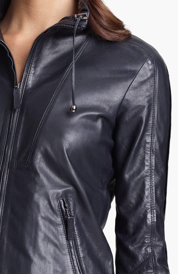 Alternate Image 3  - Armani Collezioni Washed Leather Jacket