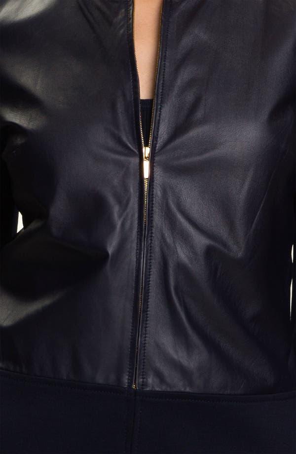 Alternate Image 5  - St. John Collection Nappa Leather Jacket