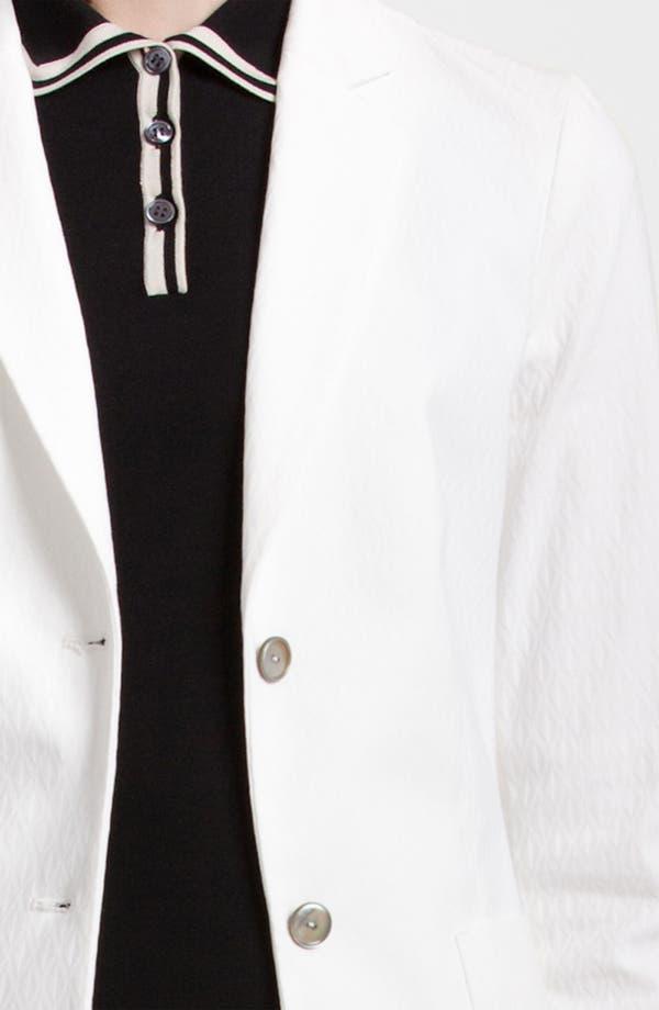 Alternate Image 3  - Jil Sander Navy Two Button Stretch Jacquard Blazer