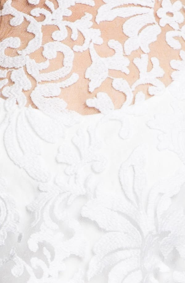 Alternate Image 3  - Tadashi Shoji Tulle & Lace Blouson Dress