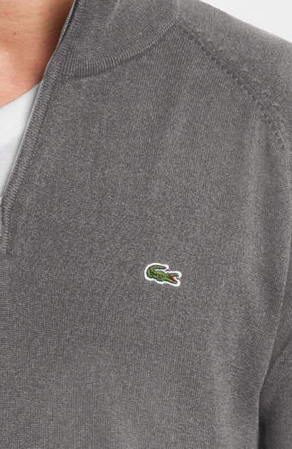 Alternate Image 3  - Lacoste Quarter Zip Regular Fit Sweater