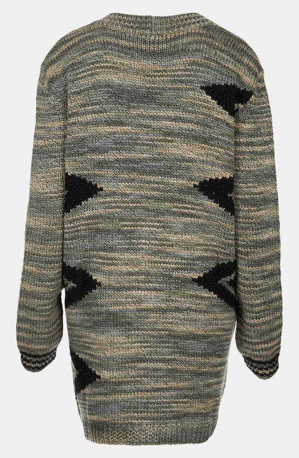 Alternate Image 2  - Topshop Triangle Graphic Cardigan