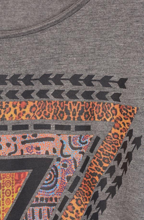 Alternate Image 3  - Topshop Aztec Print Oversized Crop Tee