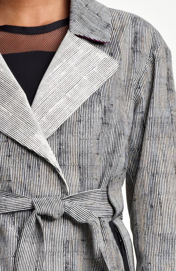 Alternate Image 3  - Lida Baday Stripe Jacquard Trench Coat