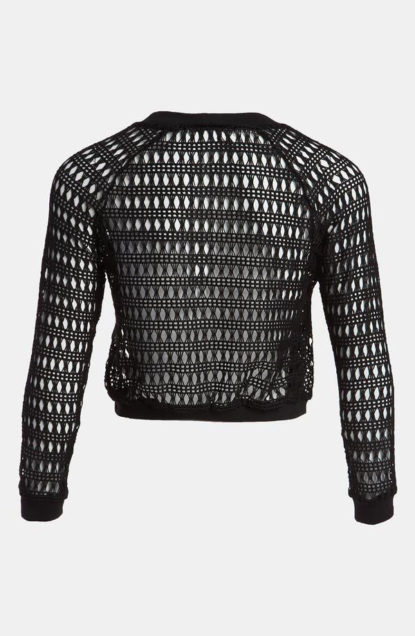 Alternate Image 2  - Viva Vena! Lace Crop Sweatshirt