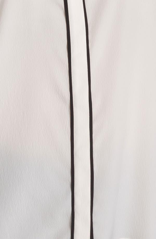 Long Sleeve Shirt,                             Alternate thumbnail 3, color,                             Black/ Ivory