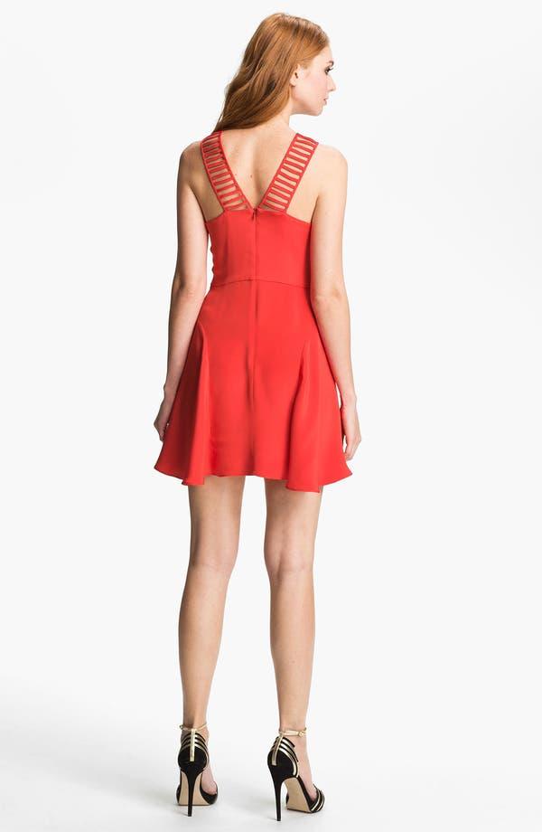 Alternate Image 2  - Parker 'Syrah' Silk Fit & Flare Dress