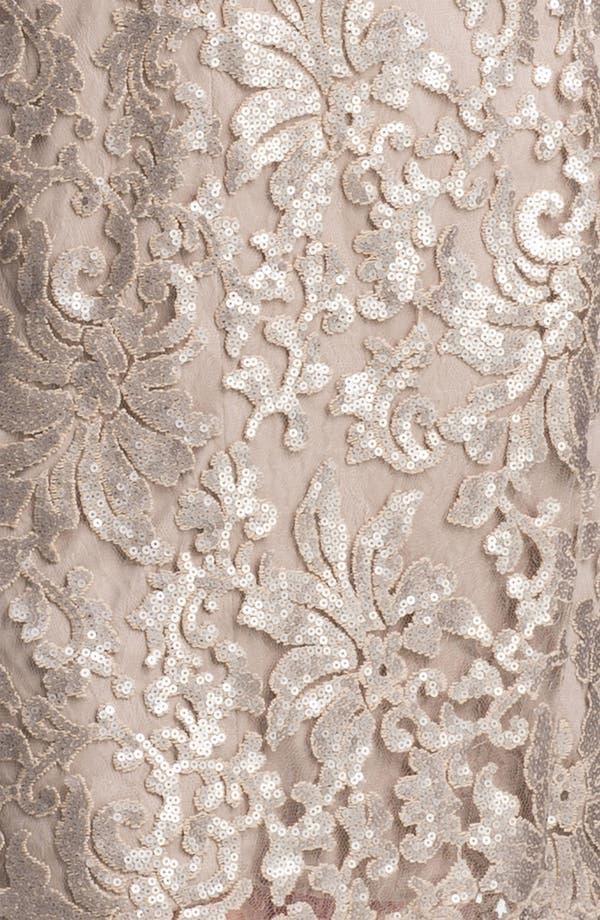 Alternate Image 3  - Tadashi Shoji Metallic Jacquard Tulle & Lace Dress (Plus Size)