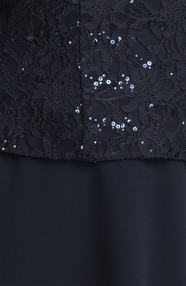 Alternate Image 3  - Alex Evenings Sequin Lace Top & Tiered Skirt (Plus)