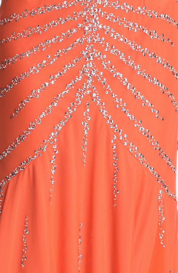 Alternate Image 3  - Sean Collection Beaded Mesh Halter Gown