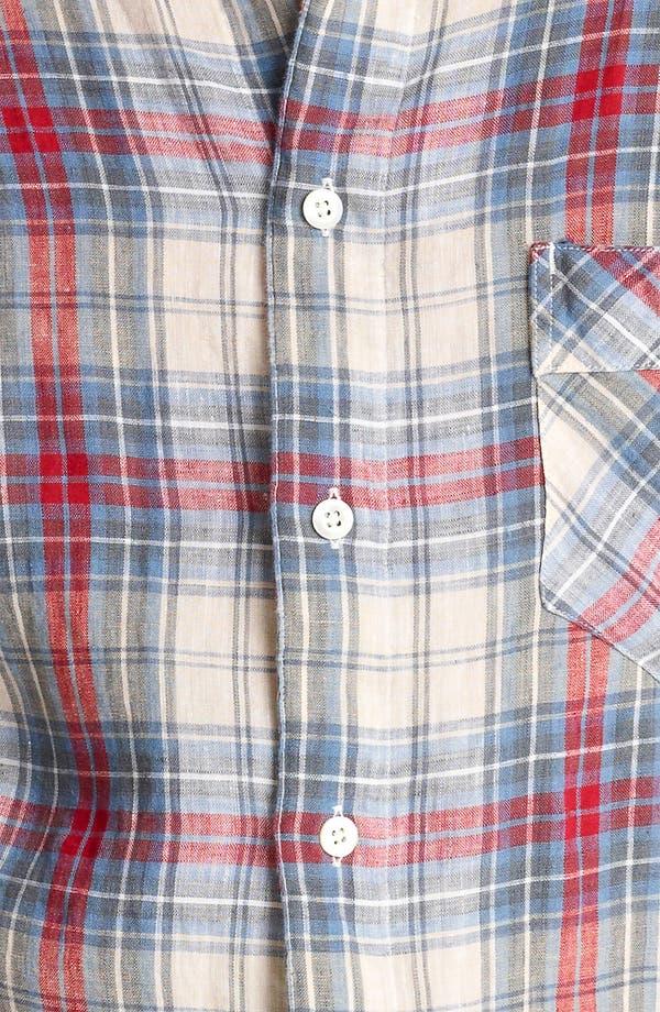 Alternate Image 3  - Billy Reid 'Walland' Plaid Linen Shirt