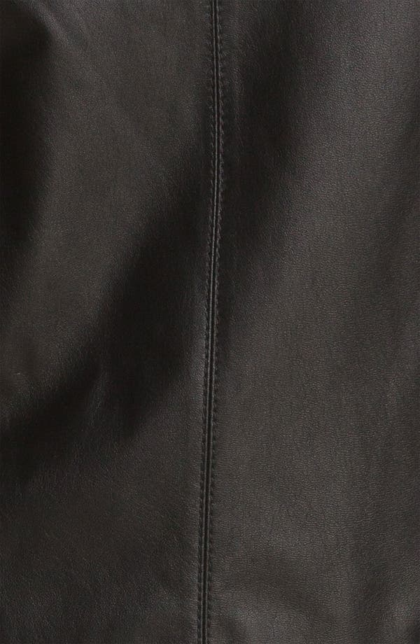 Alternate Image 3  - St. John Collection Nappa Leather & Milano Knit Shell