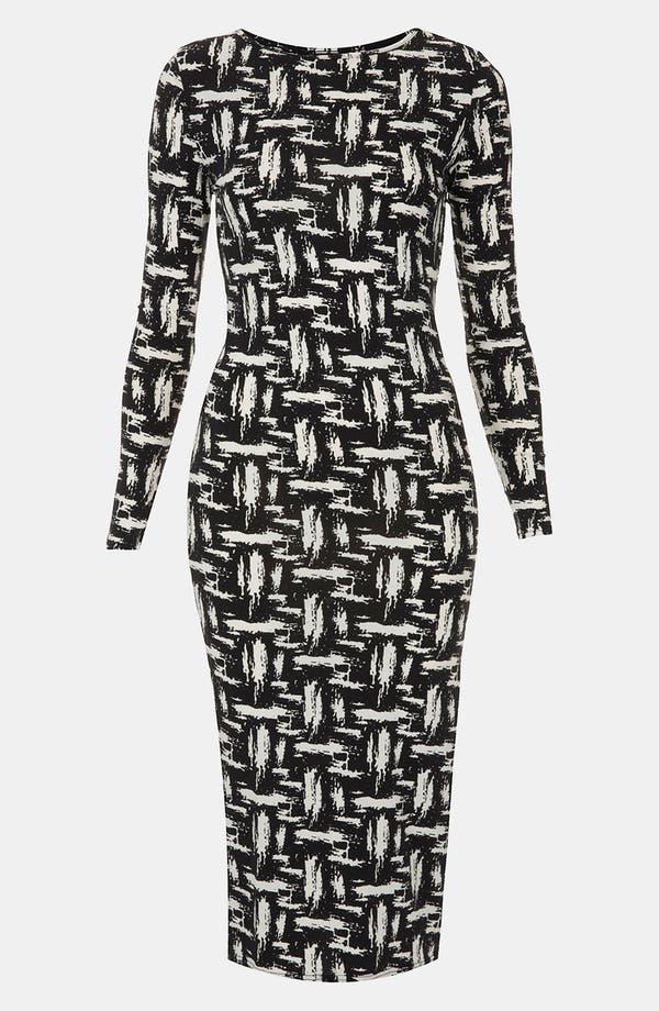 Alternate Image 1 Selected - Topshop Scratch Graffiti Midi Dress