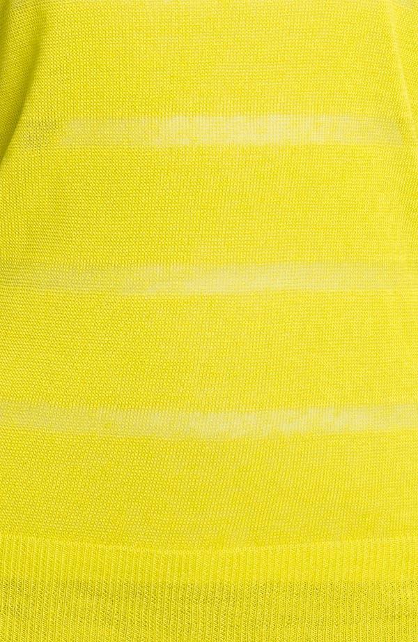 Alternate Image 3  - Halogen® Sheer Stripe Sweater
