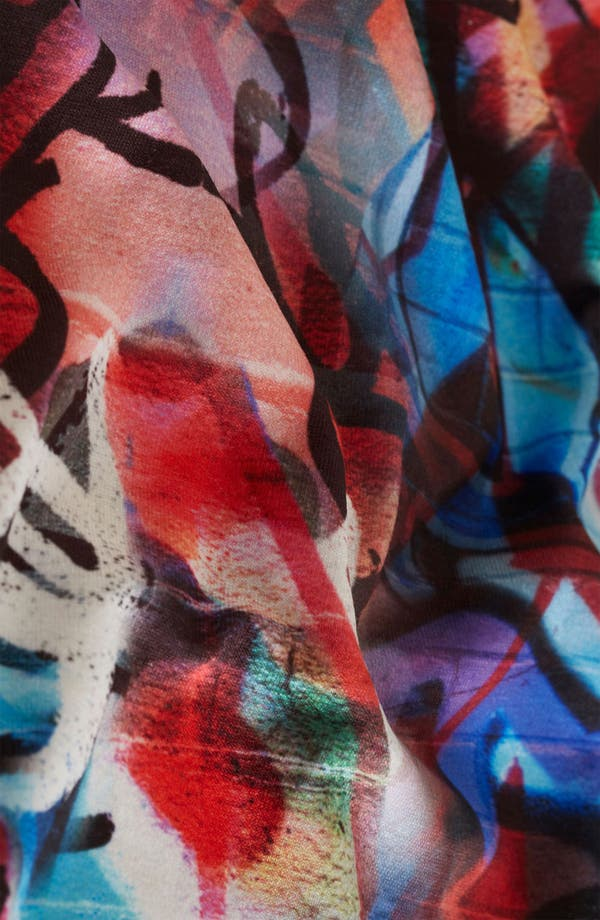 Alternate Image 3  - Topshop 'Graffiti' Print Body-Con Dress (Petite)