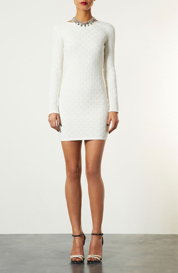 Alternate Image 1 Selected - Topshop Basket Weave Body-Con Dress
