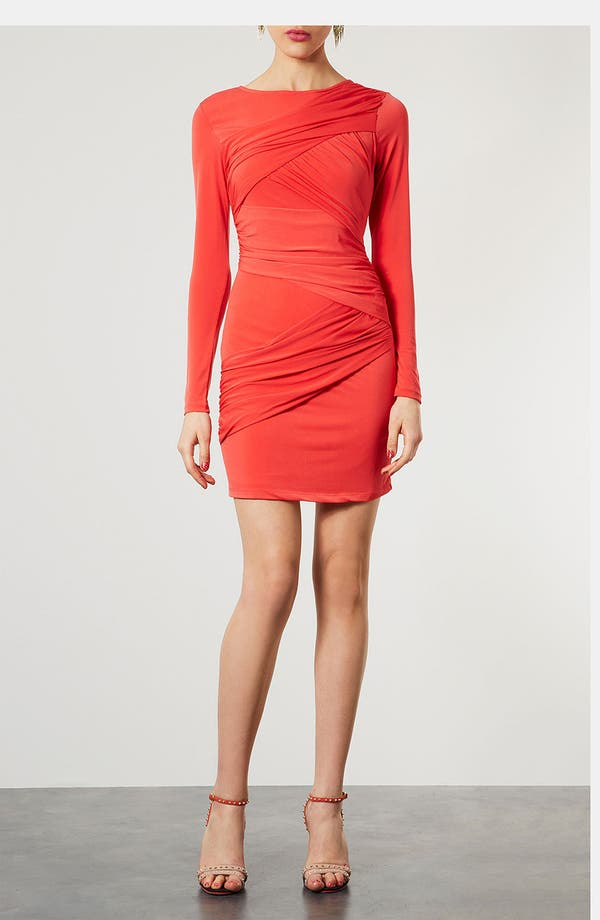 Alternate Image 1 Selected - Topshop Wrap Panel Body-Con Dress