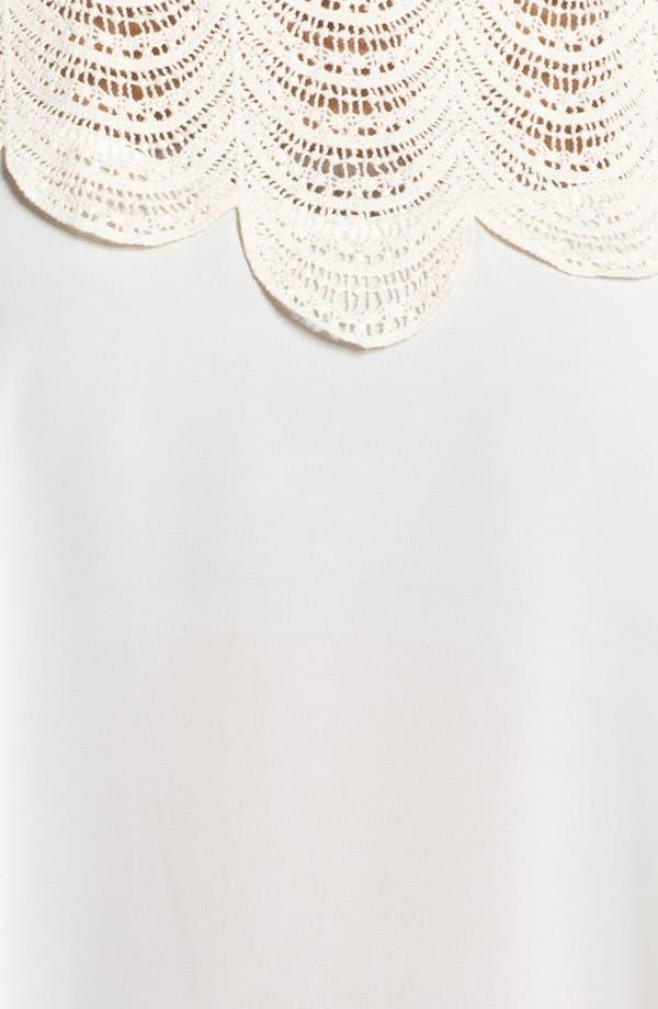 Alternate Image 3  - Lush Crochet Appliqué Envelope Tank (Juniors)