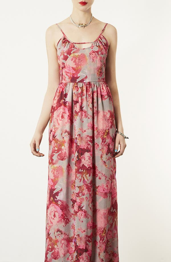 Alternate Image 1 Selected - Topshop 'Blur' Floral Maxi Dress