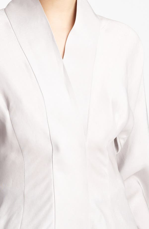 Alternate Image 3  - Donna Karan Collection Tailored Satin Blouse