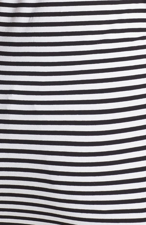 Alternate Image 3  - MICHAEL Michael Kors Zipper Detail Stripe Tee (Plus Size)