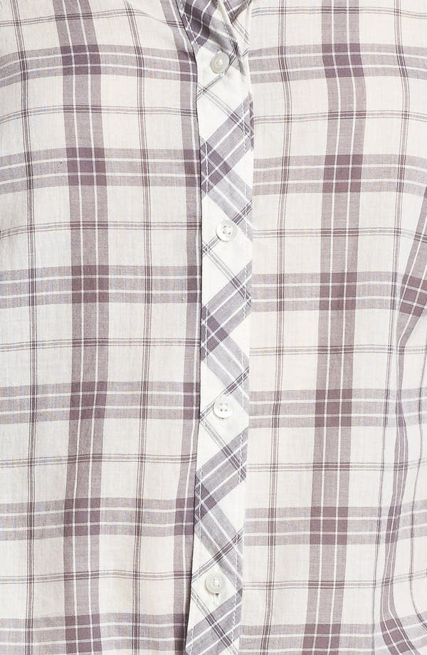 Alternate Image 3  - Rubbish® Plaid Collared Shirt (Juniors) (Online Only)