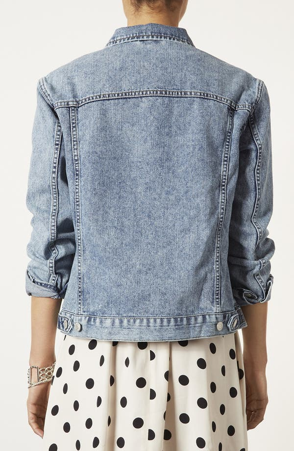 Alternate Image 2  - Topshop Moto 'Sylvie' Acid Wash Denim Jacket