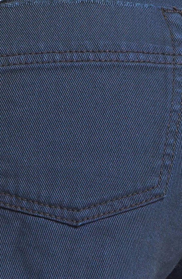 Alternate Image 3  - Free People 'Dolphin' Cutoff Denim Shorts (Blue/Black)