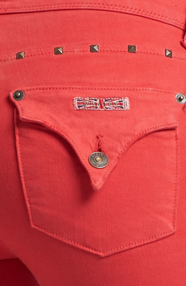 Alternate Image 3  - Hudson Jeans 'Collin' Skinny Stretch Jeans (Red Dahlia)