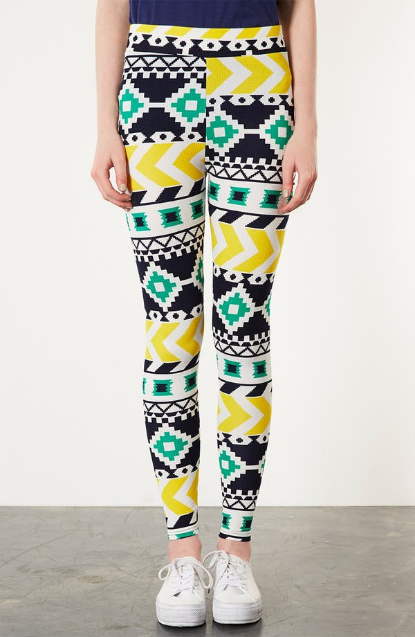 Alternate Image 1 Selected - Topshop Geometric Print Leggings