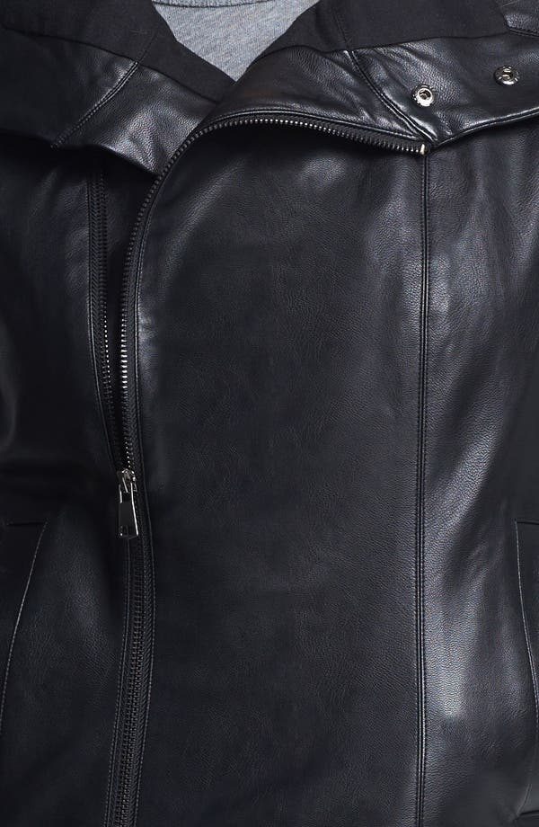 Alternate Image 3  - Echo Faux Leather Front Zip Vest