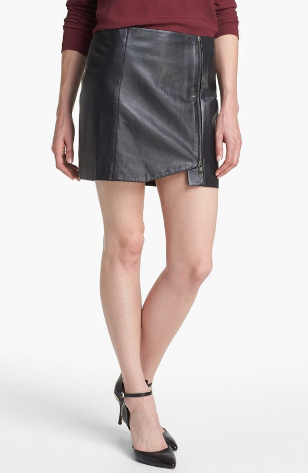 Main Image - Leith Leather Wrap Skirt