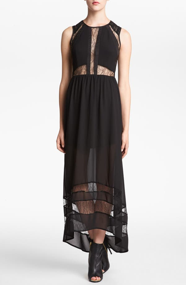 Alternate Image 1 Selected - ASTR Lace Inset Maxi Dress
