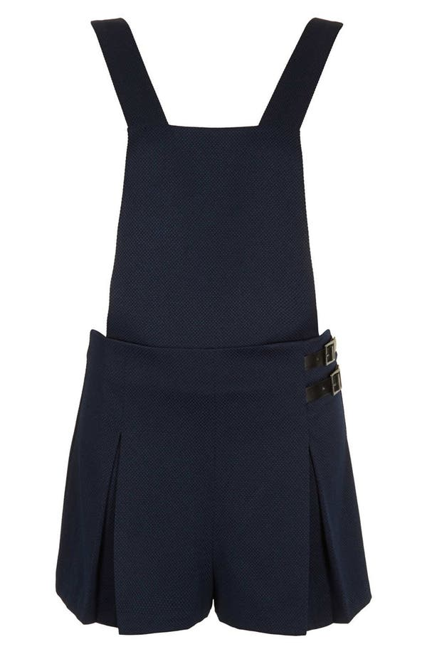 Alternate Image 3  - Topshop Textured Pinafore Romper