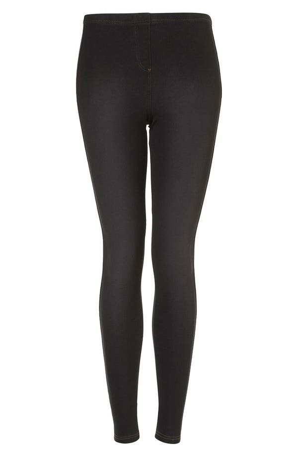 Alternate Image 1 Selected - Topshop Dark Denim Leggings